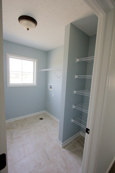 Laundry room and linen closet