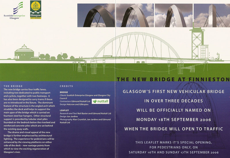The leaflet handed out at both ends of the Bridge.