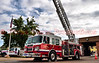 Cimarron Hills Fire Protection District's Ladder Truck 1331 on display for the Open House and 40th Anniversary Celebration at 1885 Peterson Road, El Paso County, Colorado.