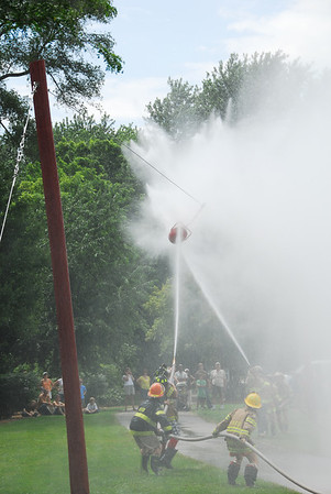 Fire Fighter Water Fight - Warrenville, Illinois - 2010