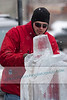 "Snow and Ice sculptors display their talent at the ""Fire & Ice"" festival in Sturgeon Bay, WI on February 14, 2009."