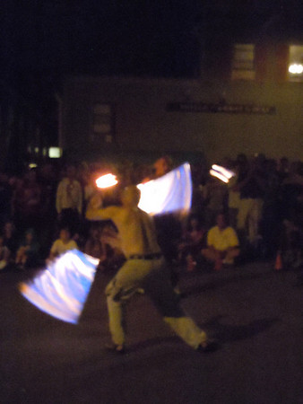 Fire dancing in Unionville CT August 2011