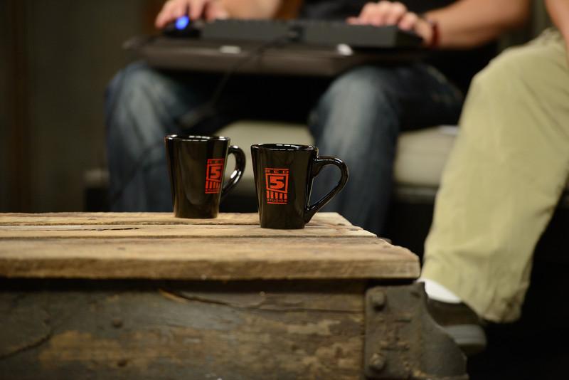 Red 5 branded mugs