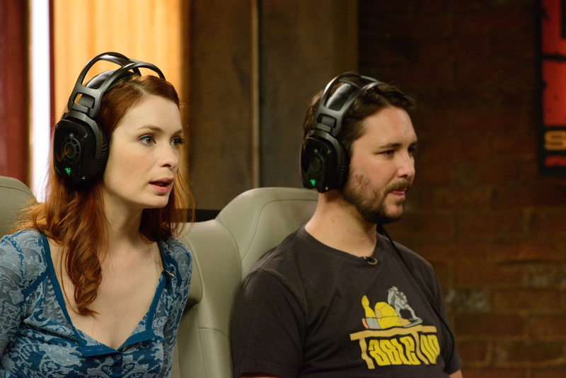 Felicia Day and Wil Wheaton playing Firefall