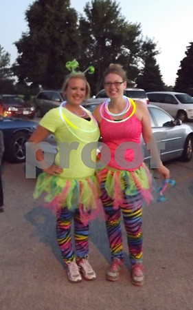 Amanda Breeser, and Stacy Lennon, all decked out and ready to run.