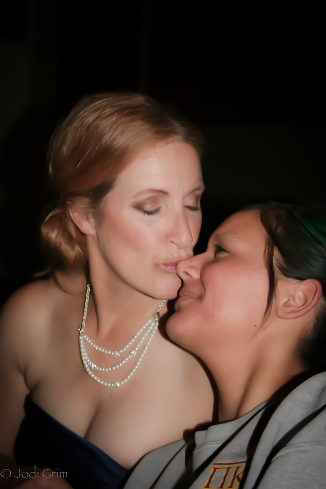 Mother daughter good night kiss :)