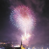 Tiffany Wolfe/NEWS<br /> Fireworks explode over downtown New Castle on Saturday night to wrap up the two-day Fireworks Festival featuring Arts on the Riverwalk.