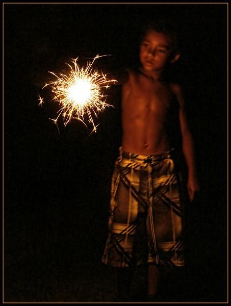 Sparkler Boy