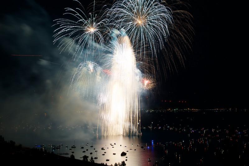 Lake Tahoe Fireworks, 4th of July 2016