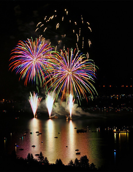 Lake Tahoe Fireworks, July 4th 2011