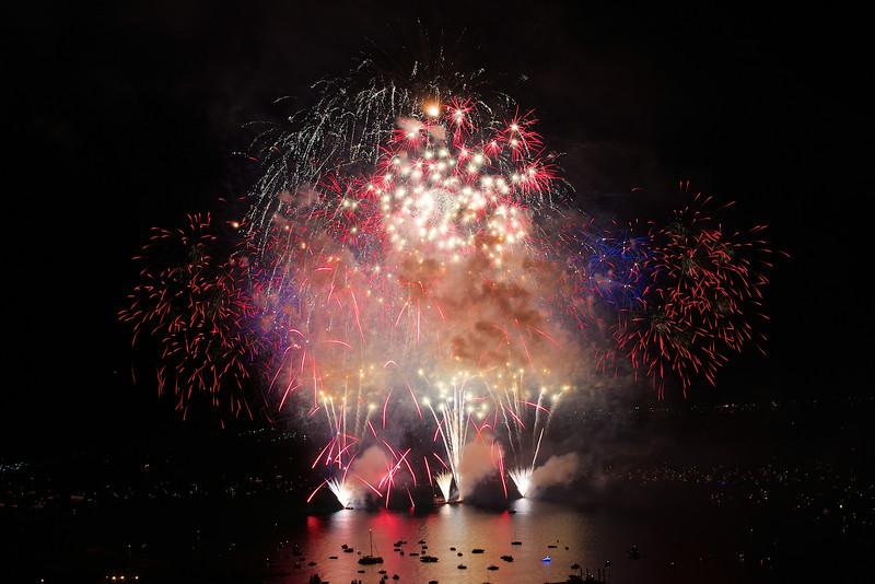 Lake Tahoe Fireworks, July 4th, 2014
