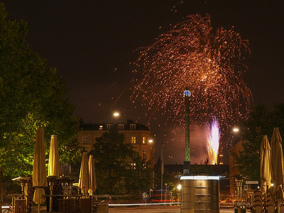Fireworks 9. Photo: Martin Bager. Fireworks in Tivoli.  Photo: Martin Bager.