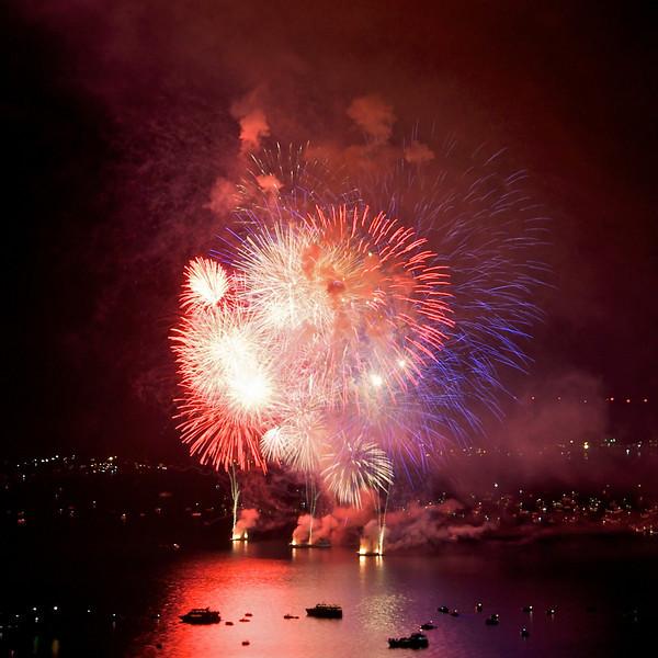 Lake Tahoe Fireworks, July 4th, 2013