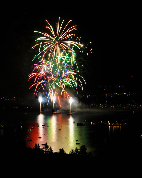Lake Tahoe Fireworks, July 4th 2011