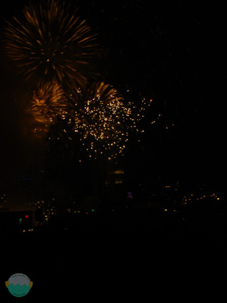 Teh fireworks going off above the P&G buildings, at least it seems.