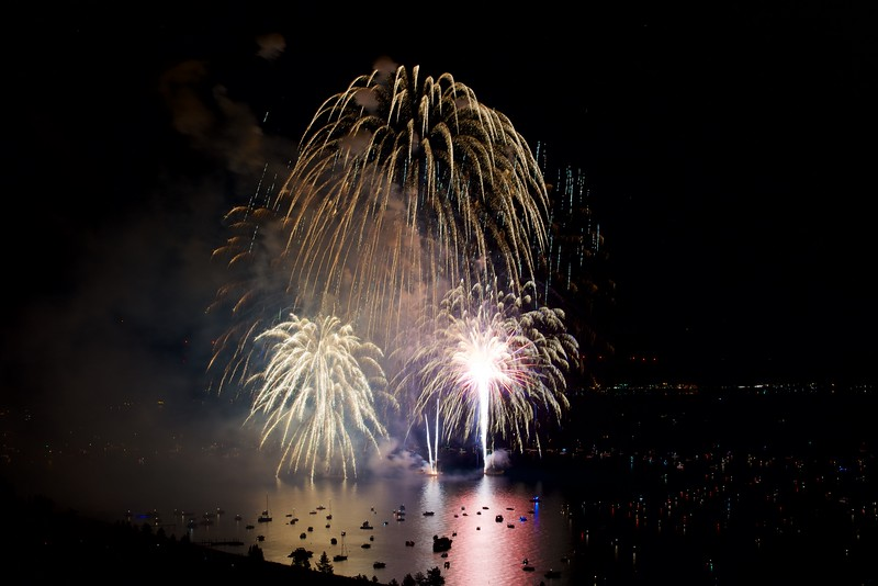 Lake Tahoe Fireworks, 4th of July 2016