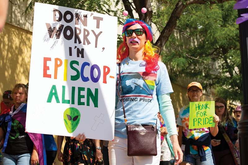 Matthew Gaston | The Sheridan Press<br>Jennifer Glass was out of this world during the first Sheridan WYO Pride March Saturday, June 22, 2019.
