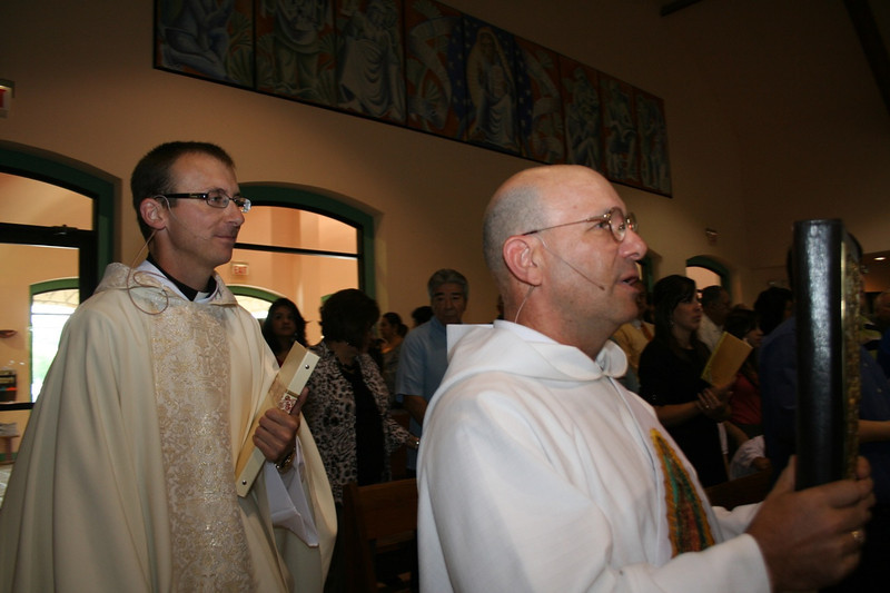 Fr. Greg processes in with Dn. Dan Quaderer