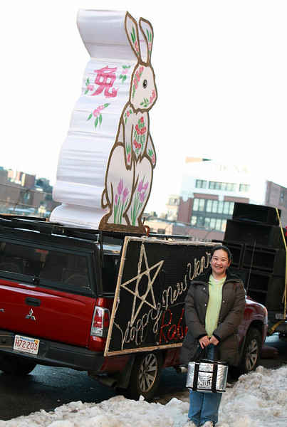 Shin-Yi in front of the GBCCA parade car. 2011 is the year of rabbit!