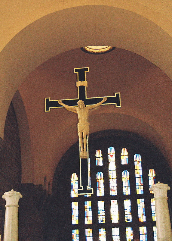 crucifix in Mt. St. Joseph Chapel