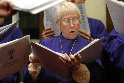 Sylvia Urich and the Holy Spirit Church choir entertain the crowd on hand for Shepherd's Night.