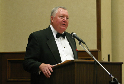 Jim Aden of the North Metro Sera Club addresses the crowd on hand for the 2010 Shepherd's Night.