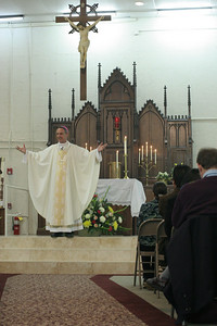 Bishop Luis Zarama is the main celebrant and homilist at the St. Michael Church Pastoral Center Mass of dedication.