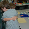 This is such a touching scene -- Zachary giving a comforting hug to his little brother, who is no doubt a little scared about being a full-day student in a big school for the first time.