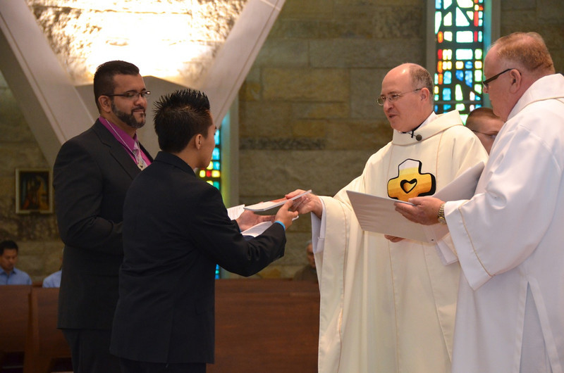 James receives the Rule of Life — at Sacred Heart School of Theology.
