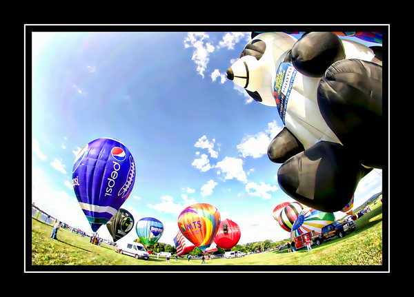 Fisheye Views Of Hot Air Balloons