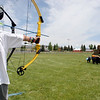 Taking Aim - archery was a big hit at the Fishing and Sports  Derby.<br /> <br /> Photo by Chris Rourke