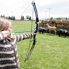 Archery was a big hit with both boys and girls at the Fishing and Sports Derby.<br /> <br /> Photo by Chris Rourke
