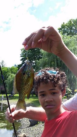 Fishing at Zabriskie Pond Park, July 2016