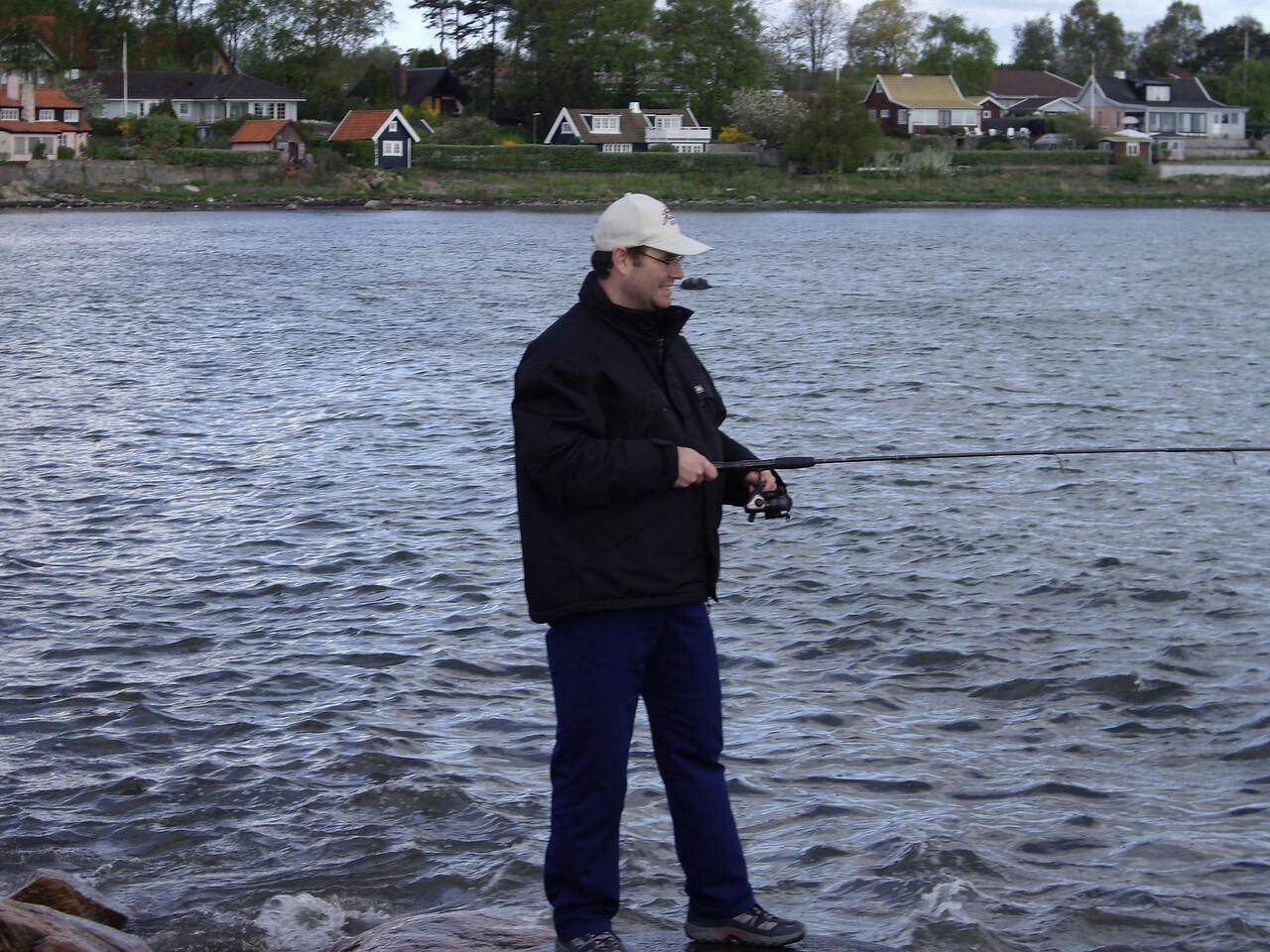 Fiske vid svanshall bla.