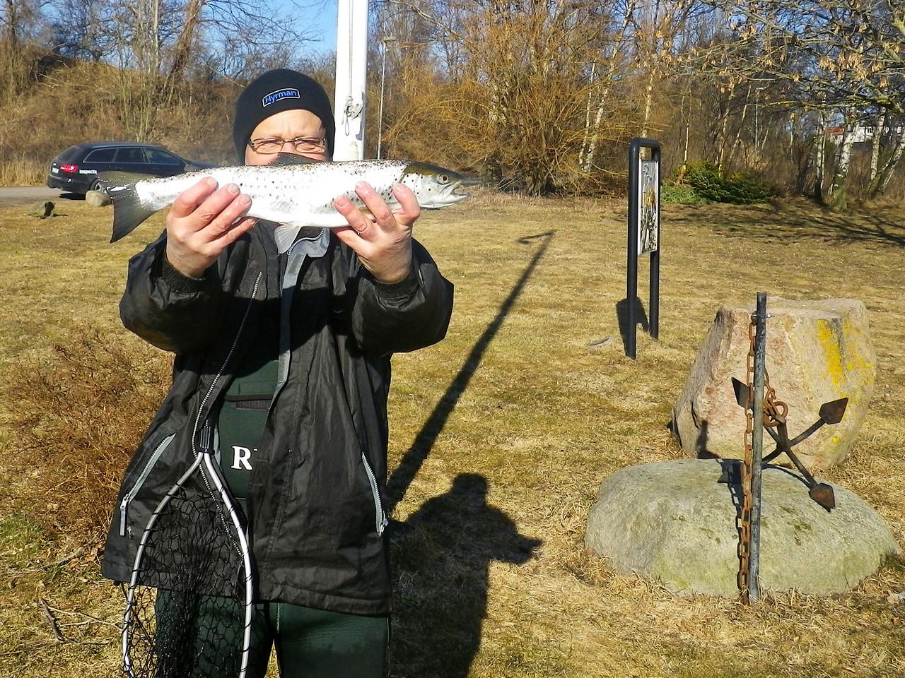 2013-04-01, Öring fiske vid Rekekroken
