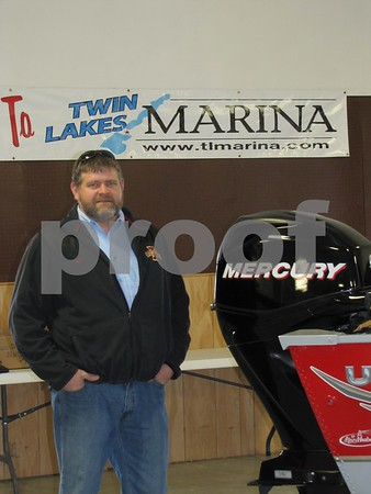 Brad VanMeter of Twin Lakes Marina Sales & Service was on hand to answer questions and promote business.  He had several boats on display.