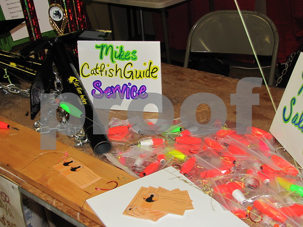 Handmade catfish rigs by Mike Salazars of Waterloo.