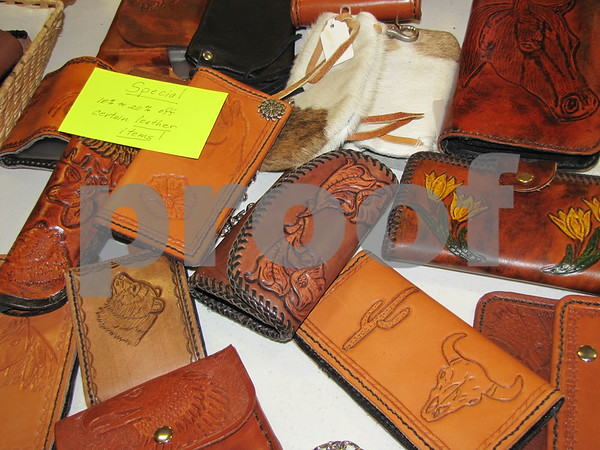 Handmade leather goods by Zumach Sales of Lake View, IA.