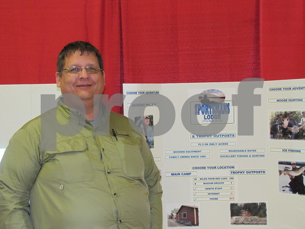 Scott Fosseen was representing Sportsman's Lodge at Red Lake Ontario.