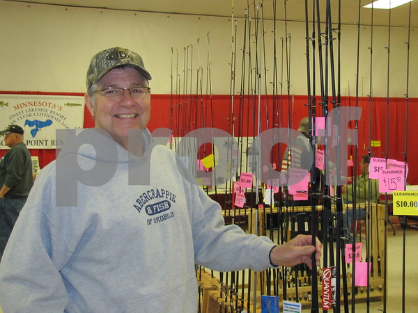 Mike Waddell was checking out the fishing equipment for the upcoming season.