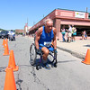 Peter Mueller a Vietnam veteran finishes the Fitchburg Police Relief Association 5K road race. This is the 24 years for this race. This Years money raised will go to supporting the Veterans Homestead. SENTINEL & ENTERPRISE/JOHN LOVE
