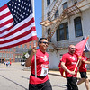 Members of Team RWB take off at the start of the Fitchburg Police Relief Association 5K road race. This is the 24 years for this race. This Years money raised will go to supporting the Veterans Homestead. SENTINEL & ENTERPRISE/JOHN LOVE