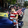MIKE McMAHON - MMcMAHON@DIGITALFIRSTMEDIA.COM, Dean Courter of Troy rides with the Patriot Guard Riders in the 48th flag day parade in Troy, Sunday June 14, 2015