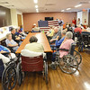 A Flag Day ceremony was held for veterans at the Golden Living Center in Fitchburg on Friday afternoon. SENTINEL & ENTERPRISE / Ashley Green