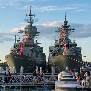 HMAS Perth (FFH 157) and HMAS Parramatta (FFH 154)