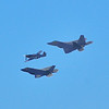 F-22s and Prop Plane