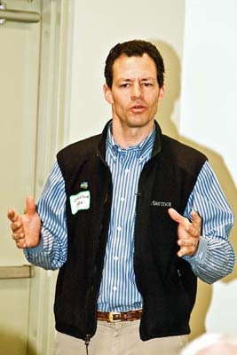 <b>Evan Hirsche, President, National Wildlife Refuge Association, delivers the keynote address</b> <i>- George Berman</i>