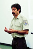 <b>Charlie Pelizza delivers a slide lecture about the newest Florida NWR</b>  <i>- George Berman</i>