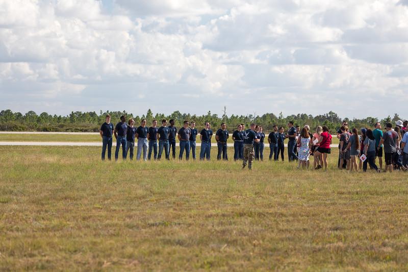 The USAF Thunderbirds Ground Ceremony