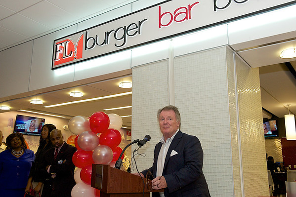 Fly Burger Bar Boutique Grand Opening on Concourse B, at Hartsfield International Airport.